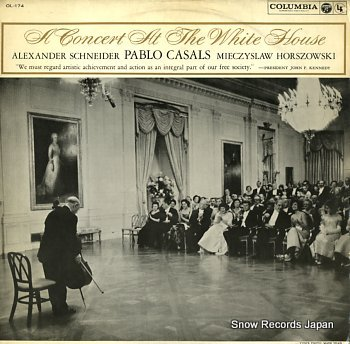 CASALS, PABLO concert at the white house, a