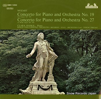 KASKIL, CLARA mozart; concerto for piano and orchestra no.19