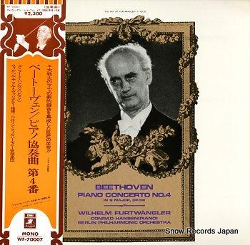 FURTWANGLER, WILHELM beethoven; piano concerto no.4