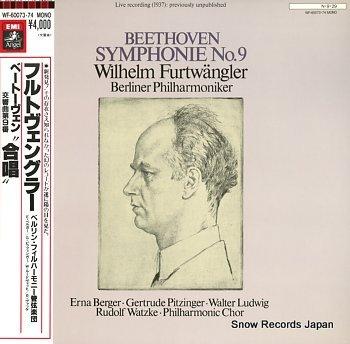FURTWANGLER, WILHELM beethoven; symphony no.9 choral
