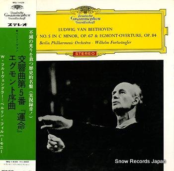 FURTWANGLER, WILHELM beethoven; symphonie no.5 in c minor, op.67