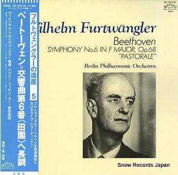 FURTWANGLER, WILHELM beethoven; symphony no.6 in f major, op.68 pastorale