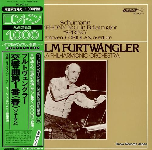 FURTWANGLER, WILHELM schumann; symphony no.1 in b flat major spring / beethoven; coriolan, overture
