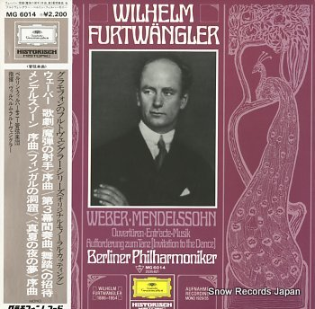FURTWANGLER, WILHELM weber; ouverture