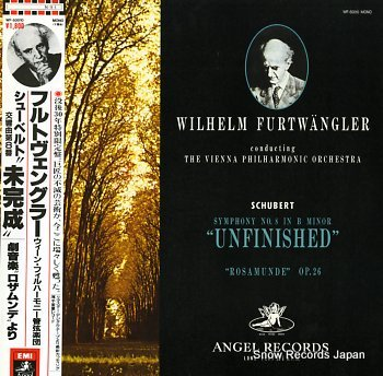 FURTWANGLER, WILHELM schubert; symphony no.8 in b minor unfinished