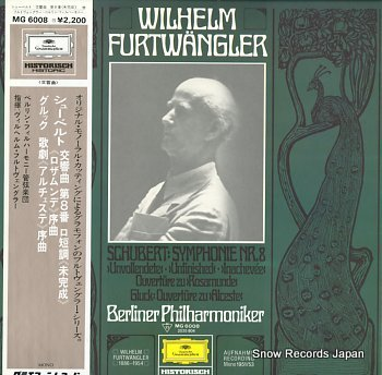 FURTWANGLER, WILHELM schubert; symphonie nr.8 unvollendete unfinished inachevee