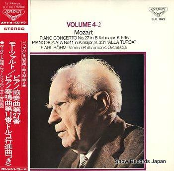 BACKHAUS, WILHELM mozart; piano concerto no.27 in b flat major, k.595