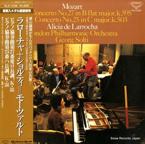 LARROCHA, ALICIA DE mozart; piano concerto no.27 in b flat major, k.595