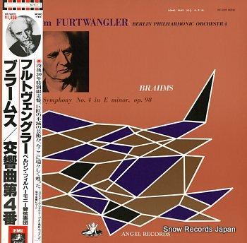 FURTWANGLER, WILHELM brahms; symphony no.4 in e minor, op.98