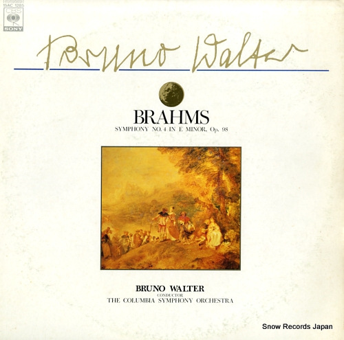 WALTER, BRUNO brahms; symphony no.4 in e minor, op.98
