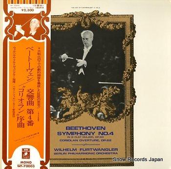 FURTWANGLER, WILHELM beethoven; symphony no.4
