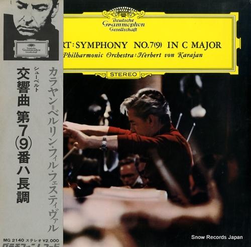 KARAJAN, HERBERT VON schubert; symphony no.7(9) in c major