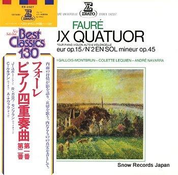 HUBEAU, JEAN faure; deux quatuor, pour piano, violon, alto & violoncelle n2en ut mineur op.15
