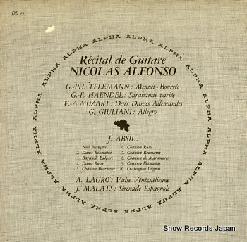 ALFONSO, NICOLAS recital de guitare