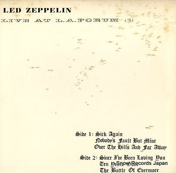 LED ZEPPELIN live at l.a. forum