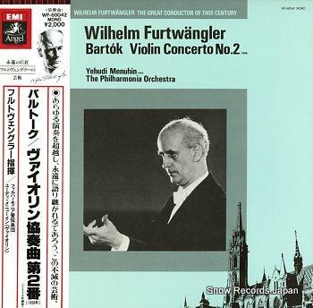 FURTWANGLER, WILHELM bartok; violin concerto no.2