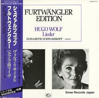 FURTWANGLER, WILHELM hugo wolf lieder