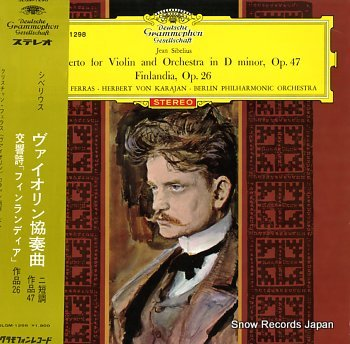 KARAJAN, HERBERT VON sibelius; violin concert in d minor, filandia