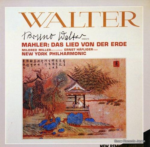 WALTER, BRUNO mahler; das lied von der erde