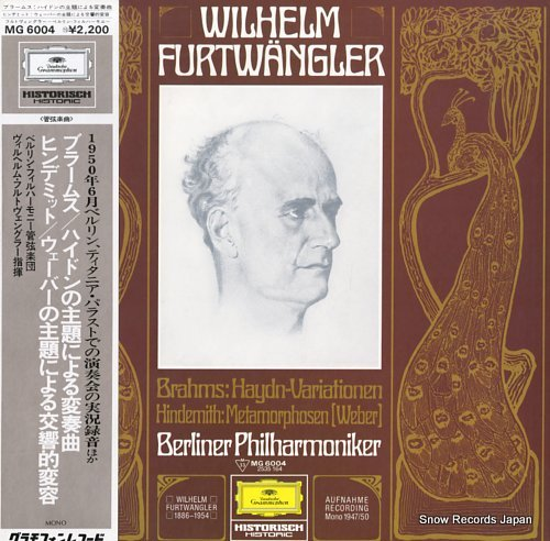 FURTWANGLER, WILHELM brahms; haydn-variationen