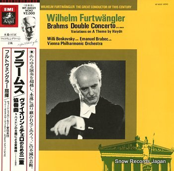 FURTWANGLER, WILHELM brahms; double concerto in a minor