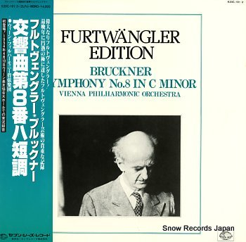 FURTWANGLER, WILHELM bruckner; symphony no.8 in c minor