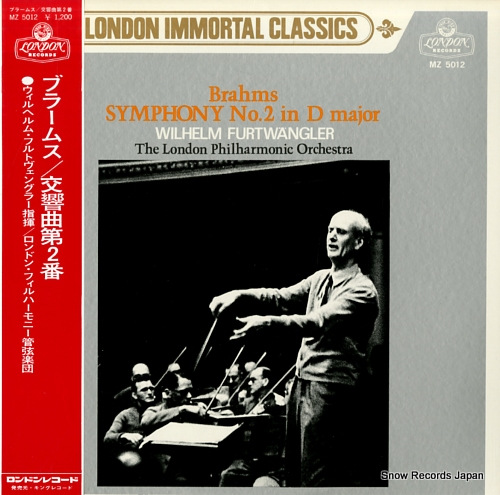 FURTWANGLER, WILHELM brahms; symphony no.2 in d major