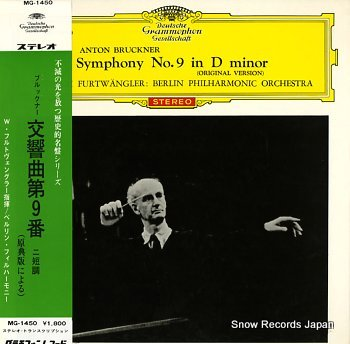 FURTWANGLER, WILHELM bruckner; symphony no.9 in d minor