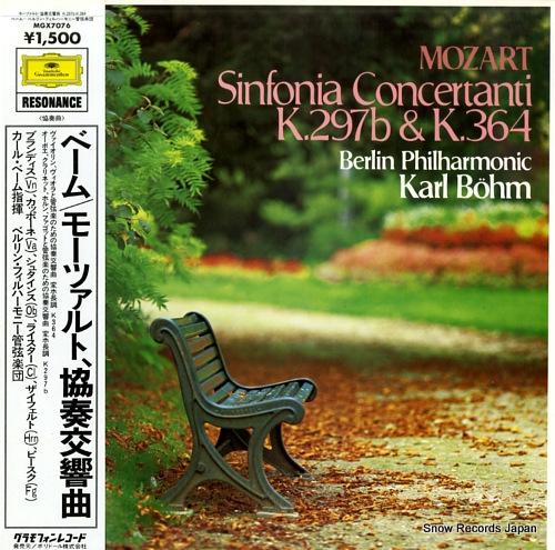 BOHM, KARL mozart; sinfonia concertanti k.297b & k.364