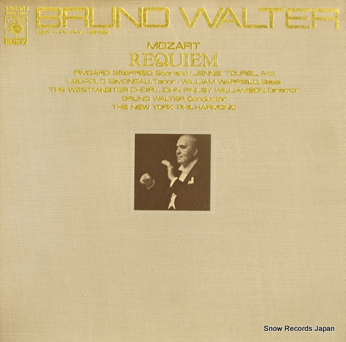 WALTER, BRUNO mozart; requiem k. 626