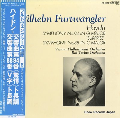 FURTWANGLER, WILHELM haydn; symphony no.94 & no.88