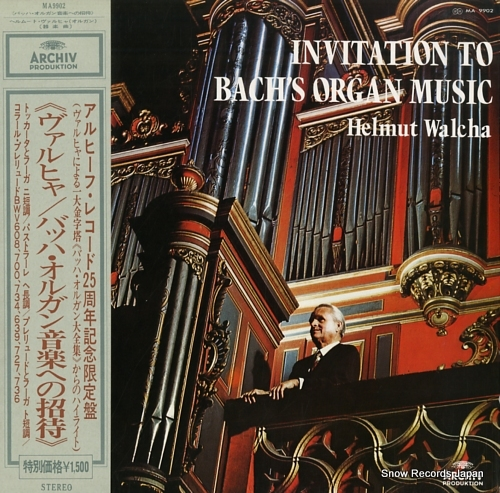 WALCHA, HELMUT invitation to bach's organ music