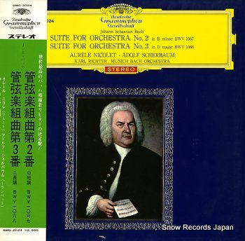 RICHTER, KARL bach; suite for orchestra no.2 & 3