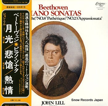LILL, JOHN beethoven; piano sonatas no.14 moonlight