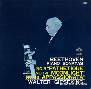 GIESEKING, WALTER beethoven; piano sonatas no.8 pathetique