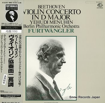 FURTWANGLER, WILHELM beethoven; violin concerto in d major op.61