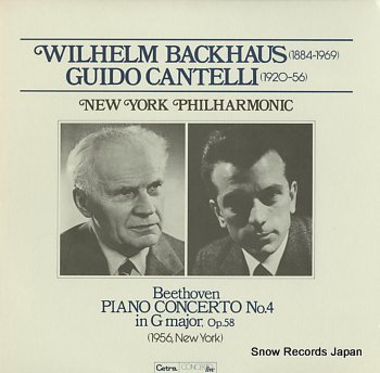 BACKHAUS, WILHELM beethoven; piano concerto no.4 in g major, op.58