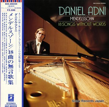 ADNI, DANIEL mendelssohn; 18 songs without words