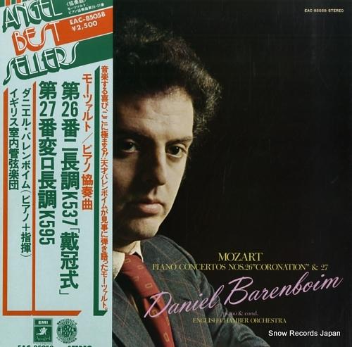 BARENBOIM, DANIEL mozart; piano concertos nos.26 coronation & 27