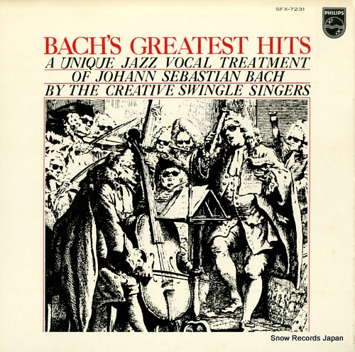 SWINGLE SINGERS, THE jazz sebastien bach / bach's greatest hits / a unique jazz vocal treatment of johann sebastian bach