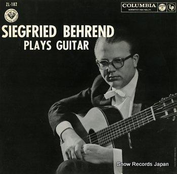 BEHREND, SIEGFRIED plays guitar