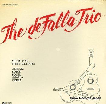 DE FALLA TRIO, THE music for three guitars
