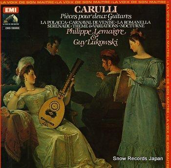 LEMAIGRE, PHILIPPE & GUY LUKOWSKI carulli; pieces pour deux guitares