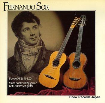 KAMMERLING, MARIA &LEIF CHRISTENSEN fernando sor; duo op.38,41,54 & 63