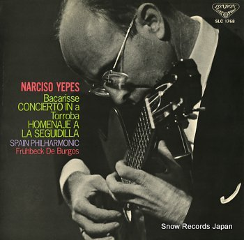 YEPES, NARCISO bacarisse; concierto in a minor
