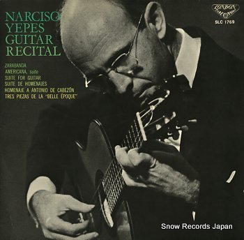 YEPES, NARCISO guitar recital