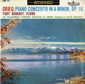 BOUKOFF, YURY grieg; piano concerto in a minor, op.16