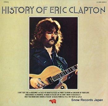 CLAPTON, ERIC history of eric clapton