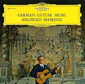 BEHREND, SIEGFRIED german guitar music