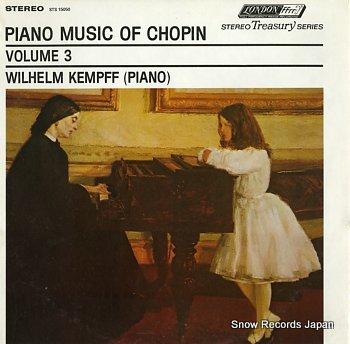 KEMPFF, WILHELM chopin; sonata no.2 in b flat minor